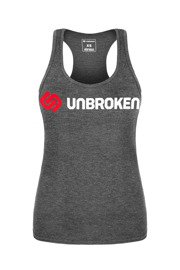Tank Top damski Unbroken Routine Is Your Enemy Grafitowy