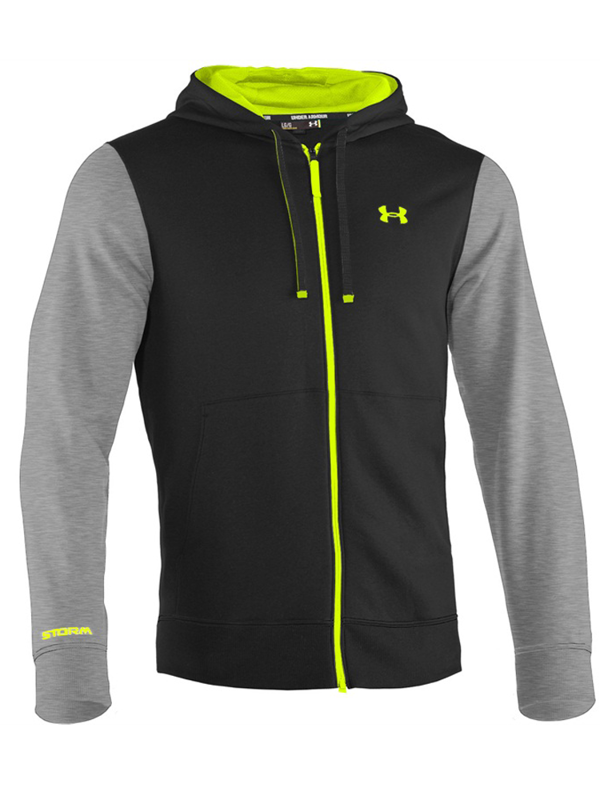 Bluza Under Armour Storm Cotton Full Zip Hoody Black Grey