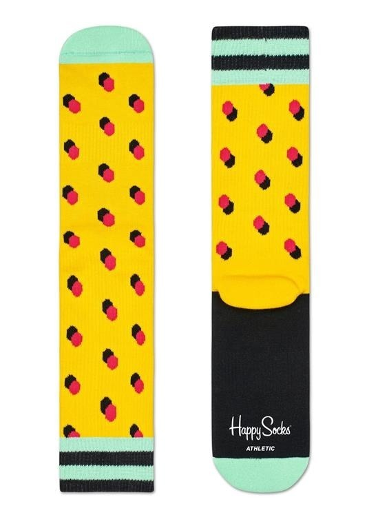 Happy Socks Athletic Shadow Dot Yellow
