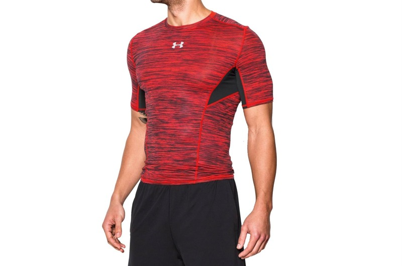 Koszulka Under Armour CoolSwitch Compression Red Black