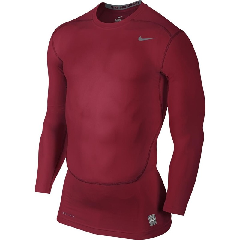 Longleeve Nike Pro Combat Core Compression Red