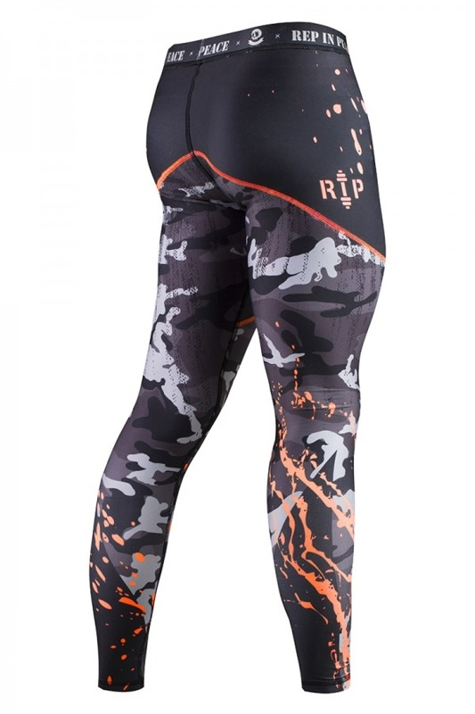 Rep In Peace Camo Orange Men's Tights