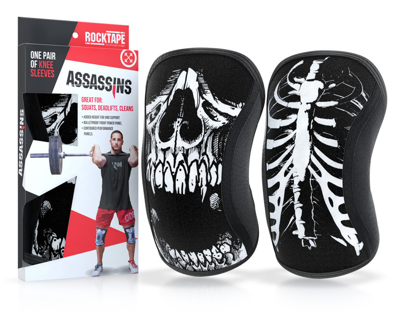 RockTape Skull Assassins Knee Sleeves 7 mm