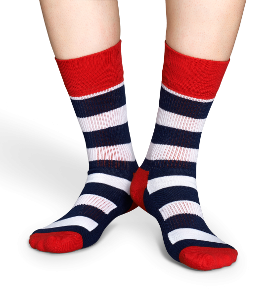 Skarpety Happy Socks Athlethic White Stripes