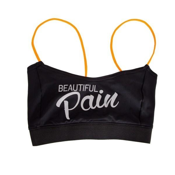 Stanik Wake Up And Squat BRA TOP Pain Black  Silver