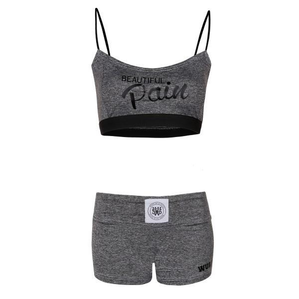 Stanik Wake Up And Squat BRA TOP Pain Grey  Black