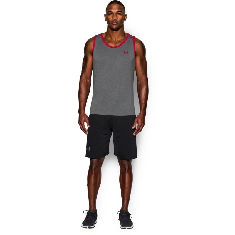 Tank Top M ski Under Armour Tech Grey Red