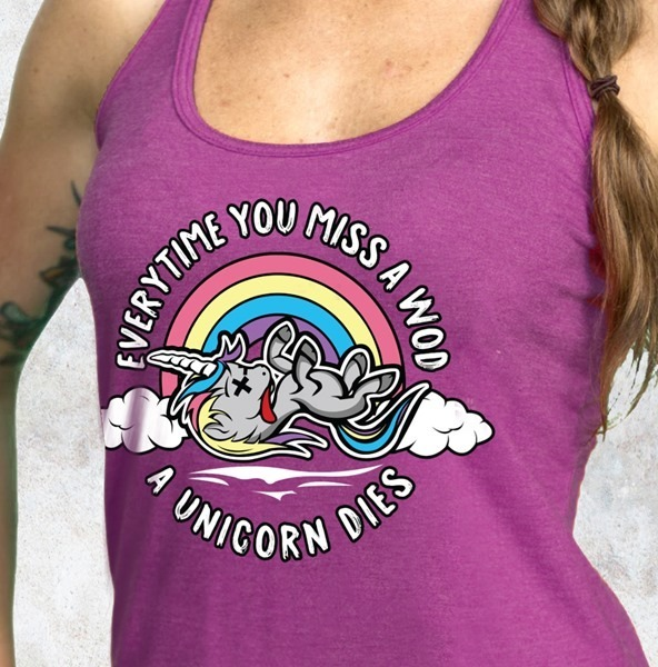 Women's Fit Addicts Tank Top Unicorn Violet