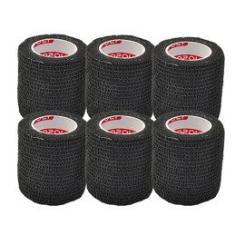 6x Copoly Cohesive Tape 5 cm Black