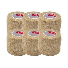 6x Copoly Cohesive Tape 5 cm Nude
