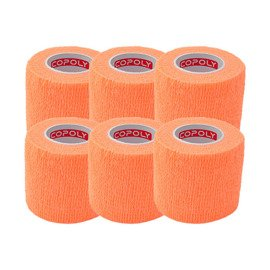 6x Copoly Cohesive Tape 5 cm Orange