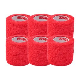 6x Copoly Cohesive Tape 5 cm Red