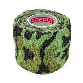 Copoly Cohesive Tape 5 cm Green Camo