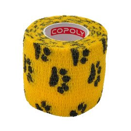 Copoly Cohesive Tape 5 cm Yellow Paw