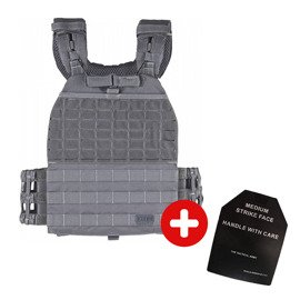 5.11 TacTec™ Plate Carrier Storm + 9 kg RX Athletic Gear plates Set