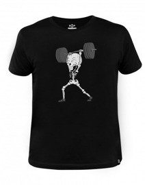 Rep In Peace Skeleton Jerk T-shirt black