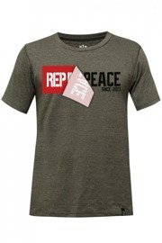 Rep In Peace KHAKI Tri-Blend T-shirt
