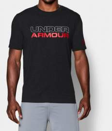 Koszulka Under Armour Charged Cotton Black Red