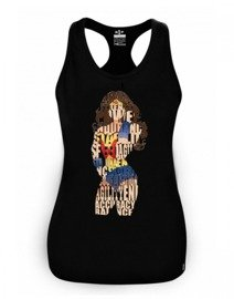 Rep In Peace Wonder Girl Tank Top Black
