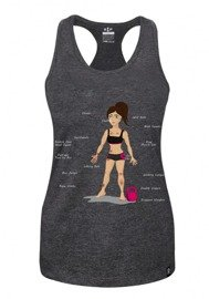 Rep In Peace Zuza Women's Graphite Tank Top