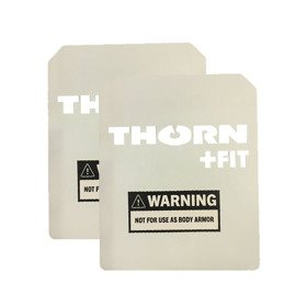 Set of Thorn Fit Weight Vest Plates 3.2 kg (2x 1.6 kg) White