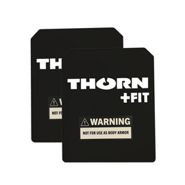 Set of Thorn Fit Weight Vest Plates 5 kg (2x 3.9 kg) Black
