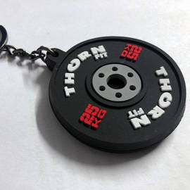Thorn Fit Bumper Rubber Keychain Black