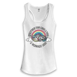 Women's Fit Addicts Tank Top Unicorn White