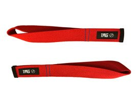 The Mjollnir Gang Lifting Straps Red