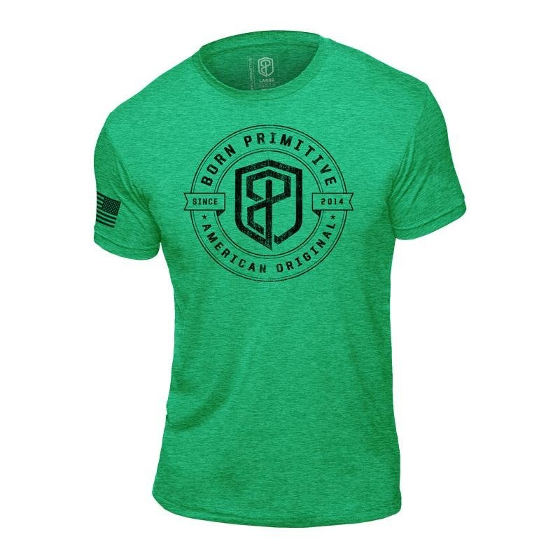 bcdee39bc14bfa Koszulka Męska Born Primitive American Original T-shirt Zielona ...