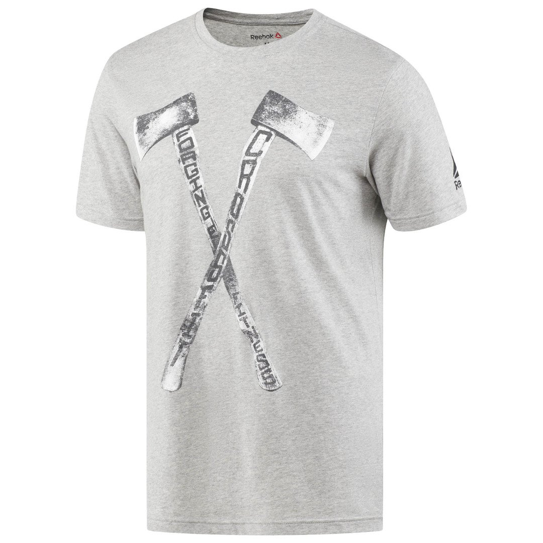 18dacc80 Koszulka Męska Reebok CrossFit Axe Graphic Szary Melanż - Unbroken store,  sklep, akcesoria, odzież