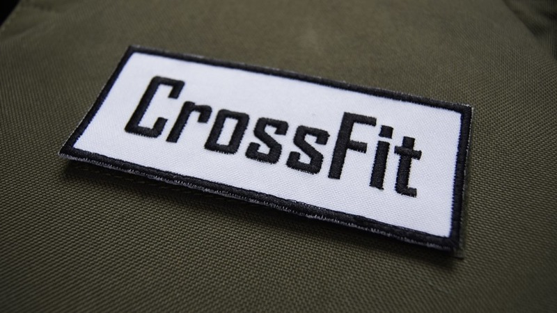 Haftowany Patch Rx Athletic Gear CrossFit Biały