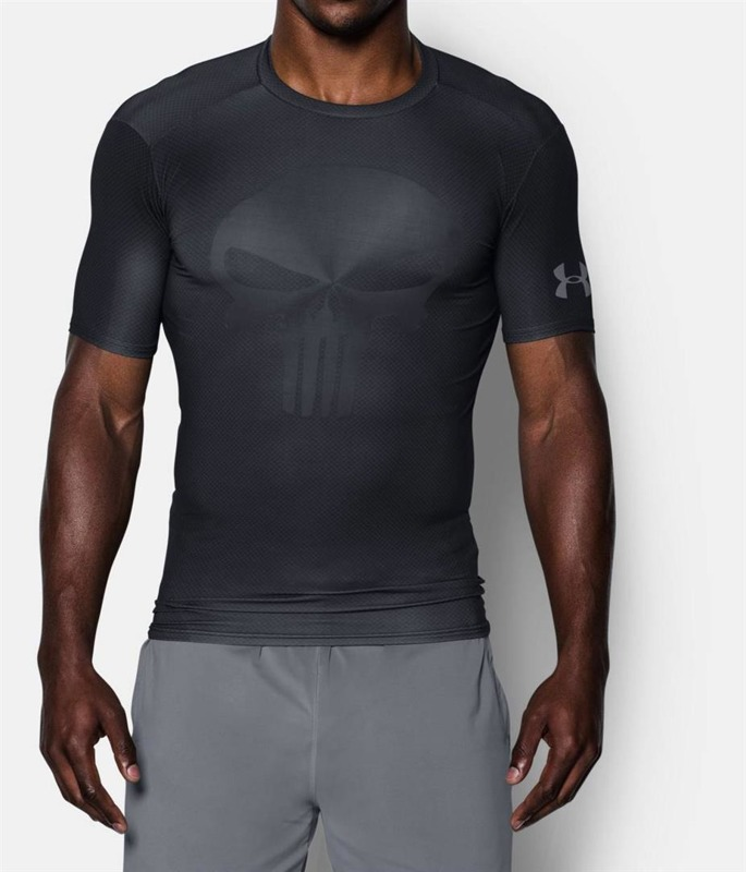 Koszulka męska Under Armour alter ego compression SS Punisher 2.0