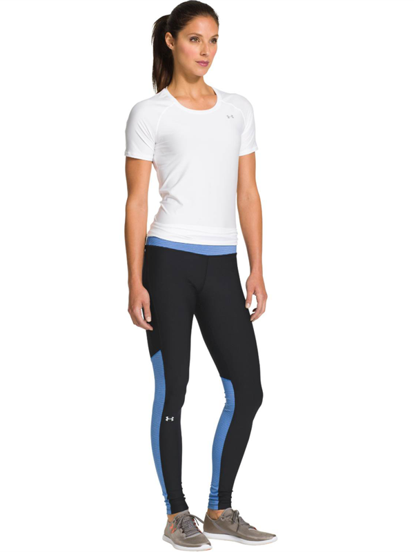 Legginsy Damskie Under Armour Heatgear Alpha Black Blue