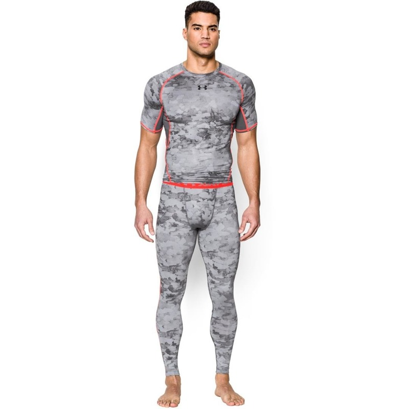 Legginsy M skie Under Armour HeatGear Printed Gray