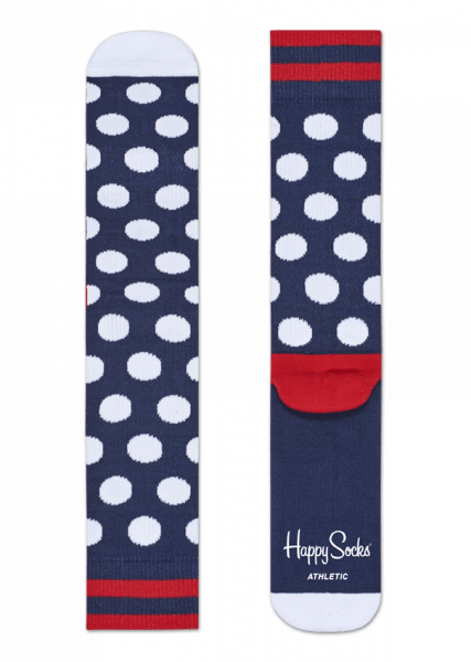 Skarpety Happy Socks Athletic Dots Granatowo - Białe