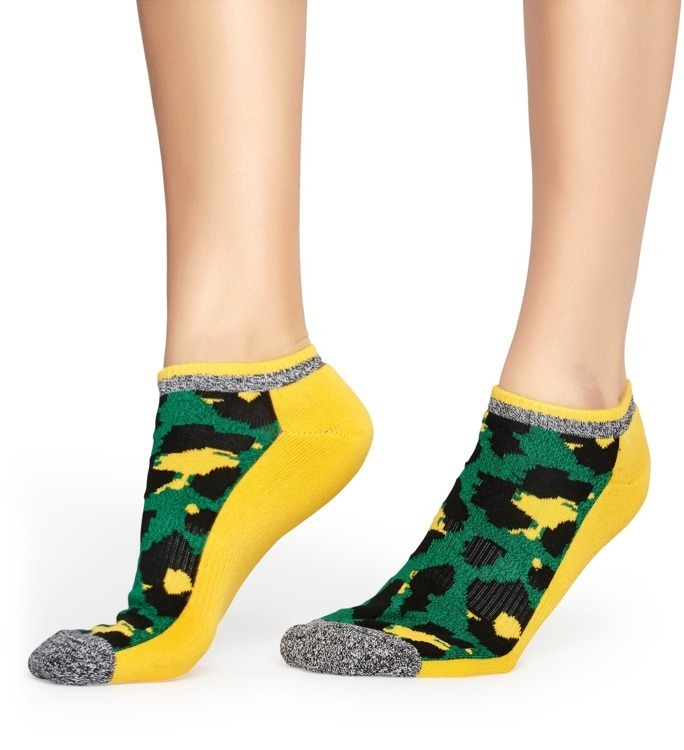 Skarpety Happy Socks Athletic Low Camo Żółte