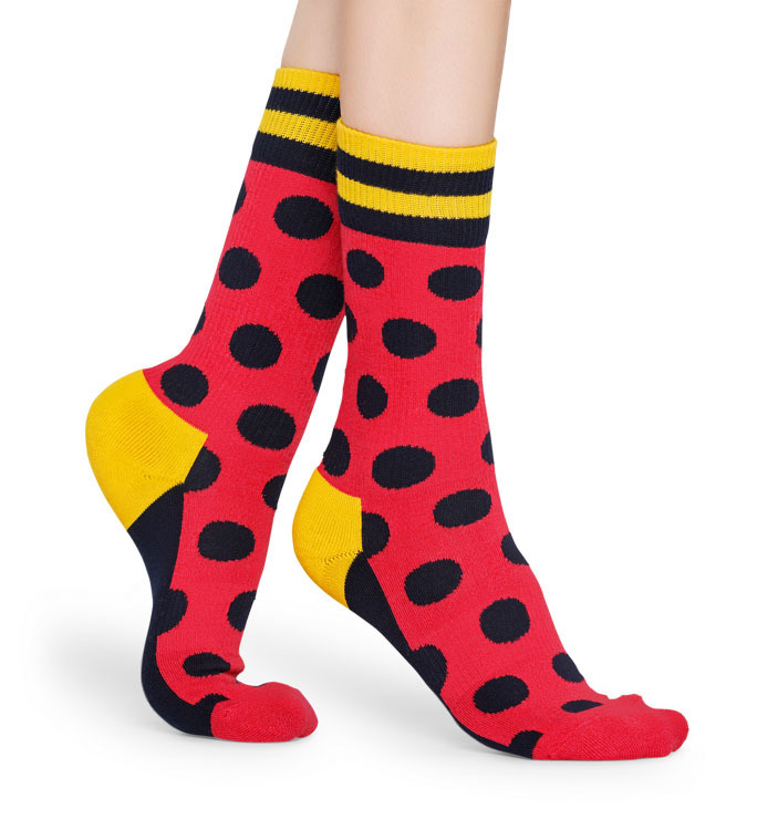 Skarpety Happy Socks Big Dot Czerwone