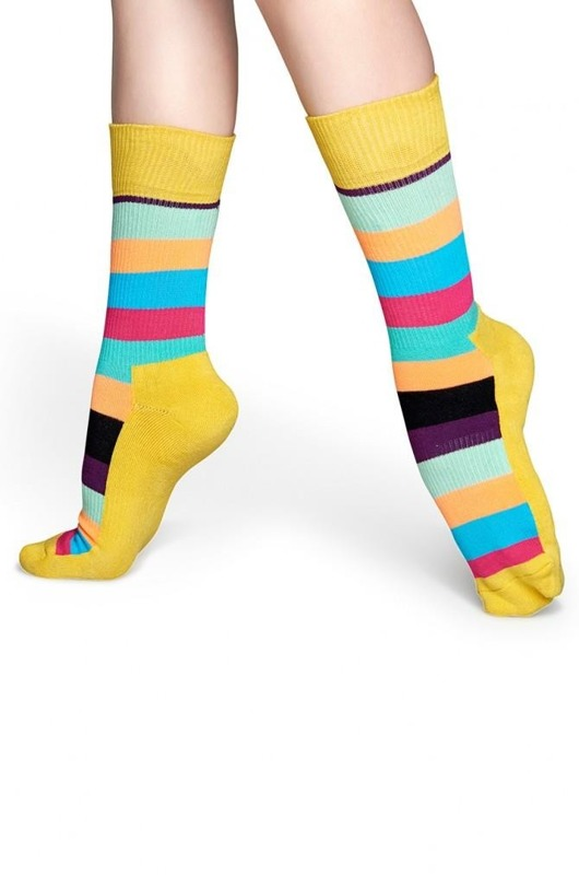 Skarpety Happy Socks athlethic color stripes żółte