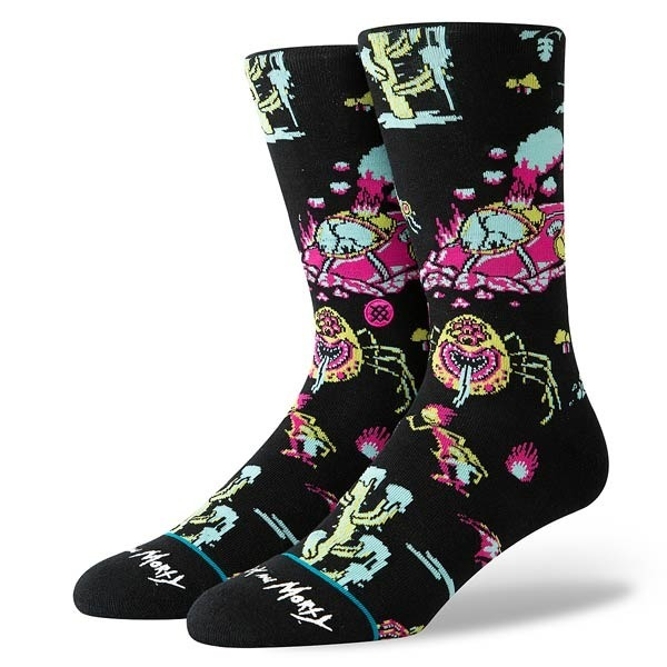 Skarpety Stance Socks Foundation Crash Landing (Rick and Morty) Czarne