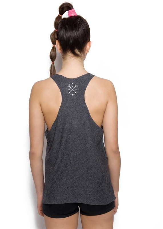 Tank Top Damski Wake Up  amp  Squat Bunny Black