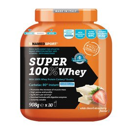 Białko Named Sport SUPER 100% Whey White Choco & Strawberry 908 g