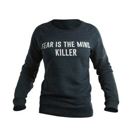 Bluza damska crewneck UNBROKEN fear is the mind killer granatowy melanż