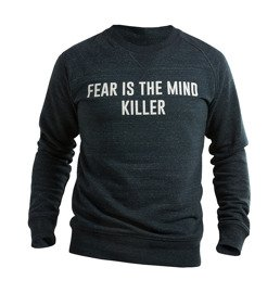 Bluza męska crewneck UNBROKEN fear is the mind killer granatowy melanż