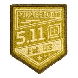 Haftowany Patch 5.11 Purpose Built Żółty (Coyote)