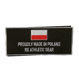 Haftowany Patch Rx Athletic Gear Proud Czarny