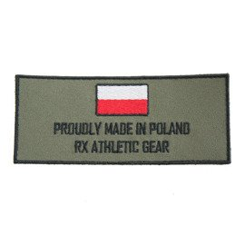 Haftowany Patch Rx Athletic Gear Proud Zielony