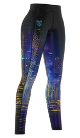 Legginsy Damskie SMMASH CITY Leggins Woman Long Multikolor
