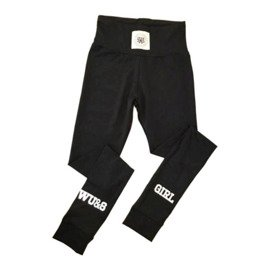 Legginsy damskie Wake Up And Squat girl black reflective