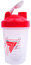 Shaker Trec Nutrition Classic Red 600 ml bezbarwny